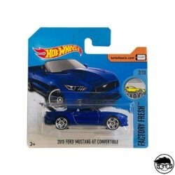 Hot Wheels 2015 Ford Mustang GT Convertible Factory Fresh 2019 short card