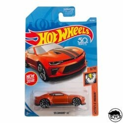 Hot Wheels '18 Camaro SS HW Muscle Mania 50 365 2018 long card