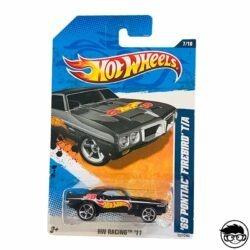 Hot Wheels 69 Pontiac Firebird T A HW Racing 11 157 244 2011 long card