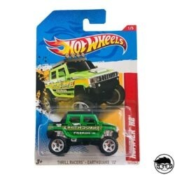 Hot Wheels Hummer H2 Thrill Racers-Earthquake 221 247 2012 long card
