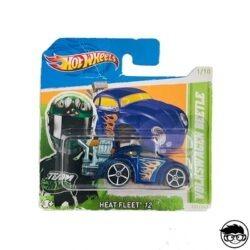 Hot Wheels Volkswagen Beetle Heat Fleet 12 151 247 2012 short card
