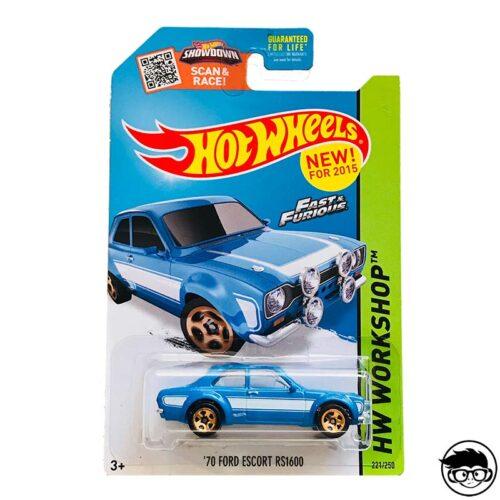 Hot Wheels '70 Ford Escort RS1600 HW Workshop 221/250 2015 long card