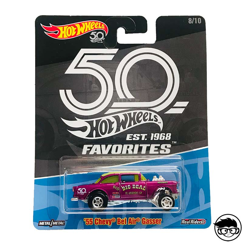 Hot Wheels 55 Chevy Bel Air Gasser 50 Years Est 1968