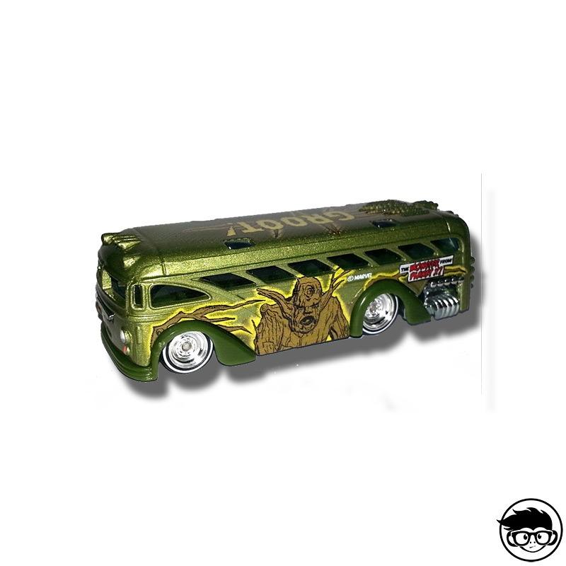 Hot Wheels Pop Culture C20 Surfin School Bus GROOT MARVEL