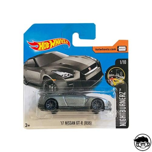 Hot Wheels '17 Nissan GT-R (R35) Nightburnerz 364 365 2017 short card
