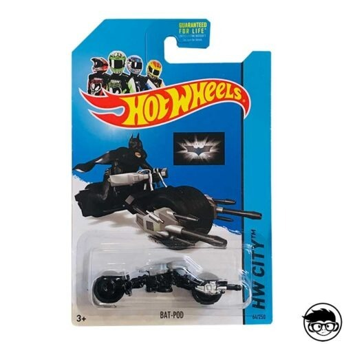 Hot Wheels Bat-Pod HW City 64 250 2014 long card