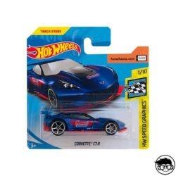 Hot Wheels Corvette C7.R HW Speed Graphics 152/365 2018 short card