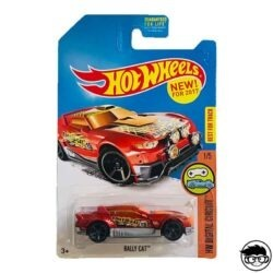 Hot Wheels Rally Cat HW Digital Circuit 1 5 2017 long card