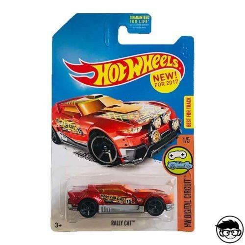 Hot Wheels Rally Cat HW Digital Circuit 1 5 2017 long card