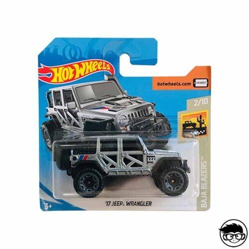 Hot wheels 17 Jeep Wrangler Baja Blazers silver grey