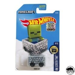 Hot-wheels-minecart-hw-screen-time-factory-sealed