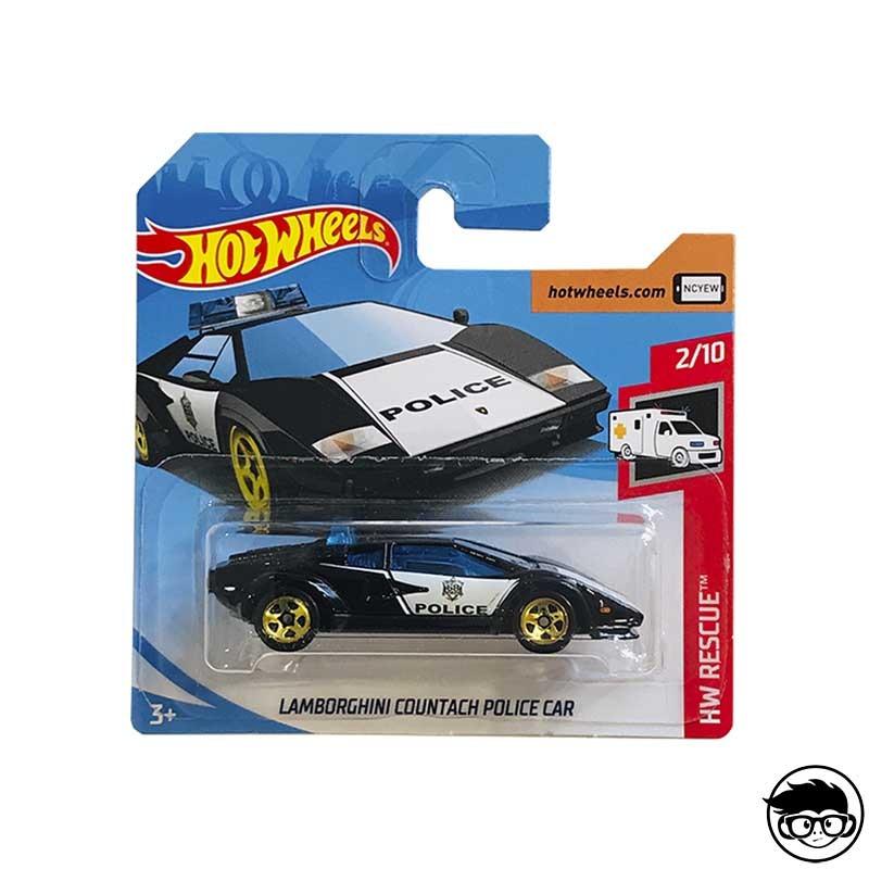 ᐅ Hot Wheels Lamborghini Countach Police Car Hw Rescue 142 250
