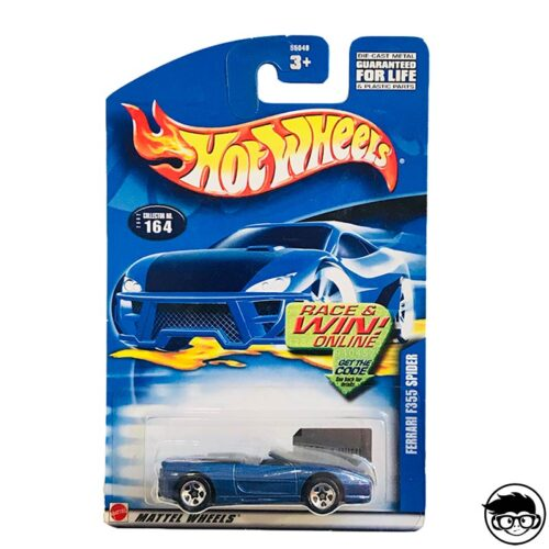 HOT-WHEELS-FERRARI-F355-SPIDER-2002-COLLECTOR-164-LONG-CARD