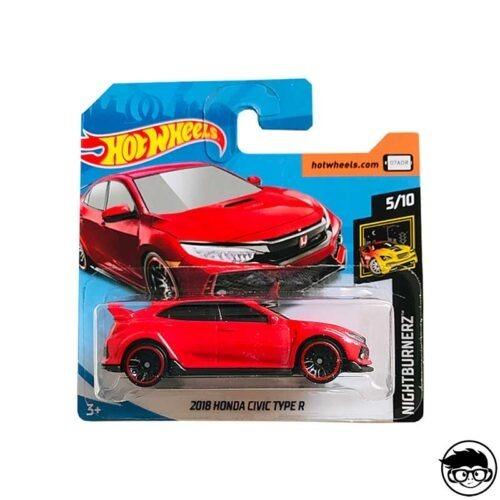 Hot Wheels 2018 Honda Civic Type R Nightburnerz 171 250 2019 short card
