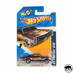 Hot Wheels '67 Pontiac GTO HW Racing 173 247 2012 long card