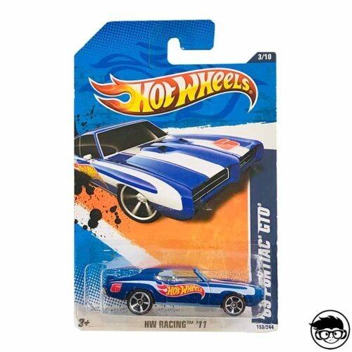Hot Wheels '69 Pontiac GTO HW Racing 153 244 2011 long card*