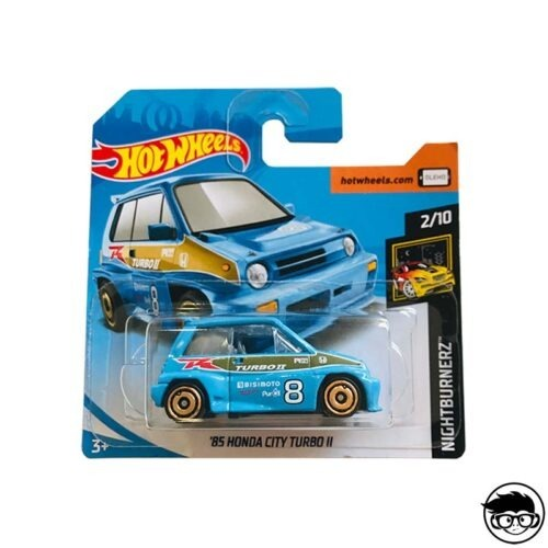 Hot Wheels '85 Honda City Turbo II HW Nightburnerz 81 250 2019 short card