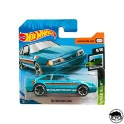 Hot Wheels '92 Ford Mustang 152 250 Speed Blur 2019 short card