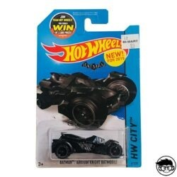 Hot Wheels Arkham Knight Batmobile Batman HW City 61 250 2015 long card
