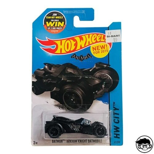 Hot Wheels Arkham Knight Batmobile Batman HW City 61 250 2015 long card
