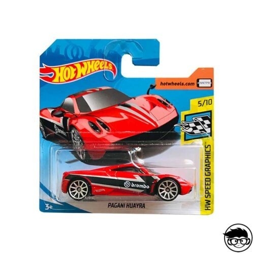 Hot Wheels Pagani Huayra HW Speed graphics 148 250 2019 short card