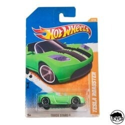 Hot Wheels Tesla Roadster Track Stars 67 244 2011 long card