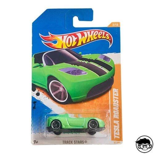 Hot Wheels Tesla Roadster Track Stars 67 244 2011 long card