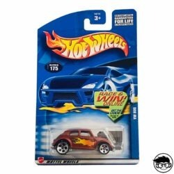 Hot Wheels Volkswagen Baja Bug Collector 2001 nº 175 long card