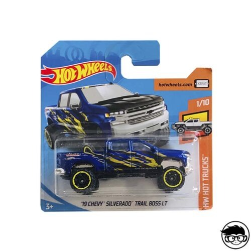 Hot Wheels ´19 Chevy Silverado Trail Boss Lt HW Hot Trucks 83/250 2019 short card