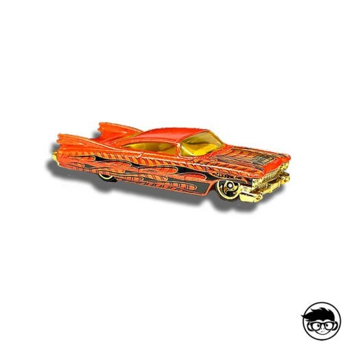 Hot Wheels '59 Cadillac Pride Rides Nº 140 2003 long card loose