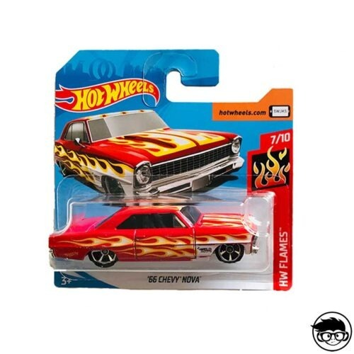 Hot Wheels '66 Chevy Nova HW Flames 143 250 2019 short card