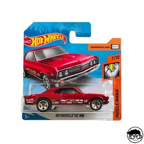 Hot Wheels '67 Chevelle SS 396 2019 Muscle Mania 157 250 short card