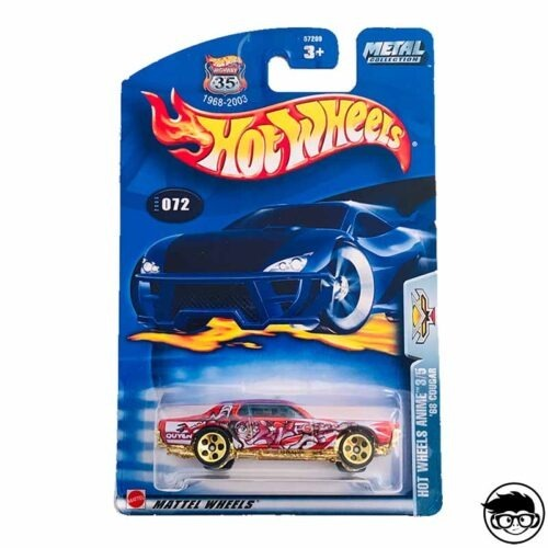Hot Wheels '68 Mercury Cougar Hot Wheels Anime 072 2003 long card