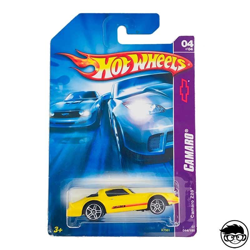 Hot Wheels 2007 Camaro Series 043 Camaro Z28 Blue No Hyphen Z 28 Plate Variation