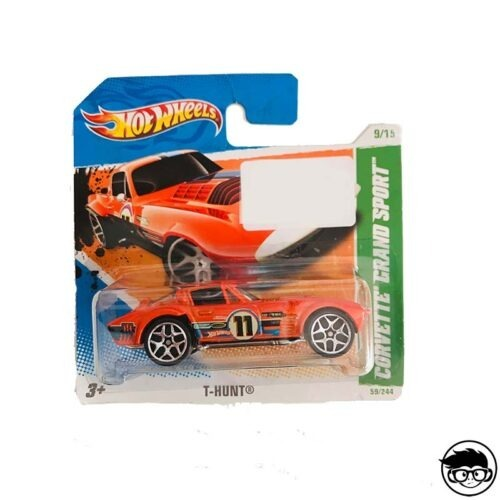Hot Wheels Corvette Grand Sport T-Hunt 59 244 2011 short card sticker