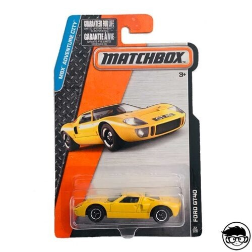 Matchbox Ford GT-40 MBX Adventure City 22 120 2015 long card