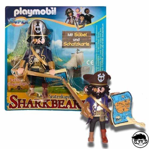 Playmobil Super4 Magazine 30795323 Sharkbeard card loose