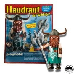 Playmobil Super4 Magazine 30799923 Haudrauf der Wikinger 2017 loose and card