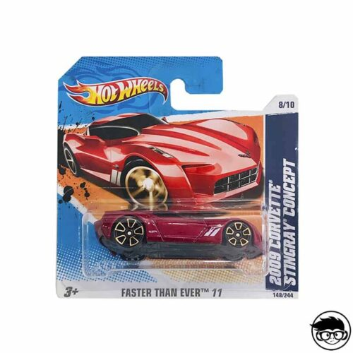 Hot Wheels 2009 Corvette Stingray Faster Than Ever 148/244 2011 short card
