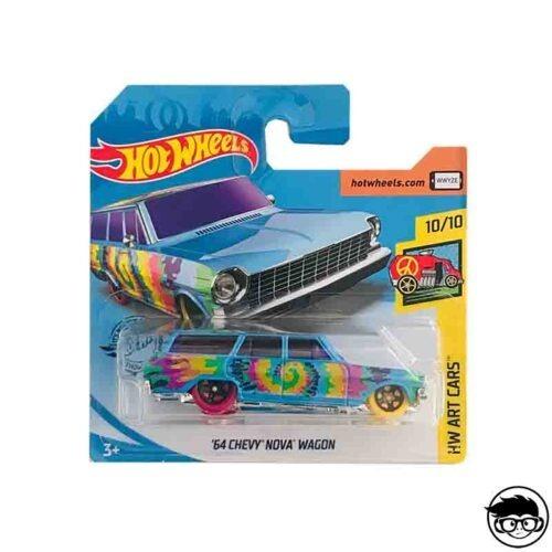 Hot Wheels '64 Chevy Nova Wagon HW Art Cars Hippie 188/250 2019 short card