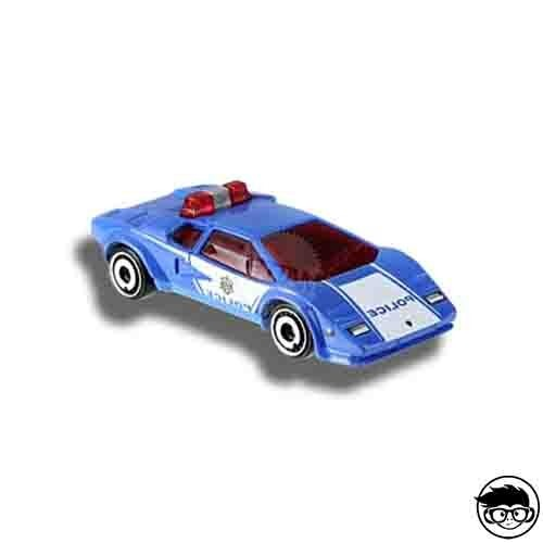 Hot Wheels Lamborghini Countach Police Car HW Rescue 142/250 2019 short card