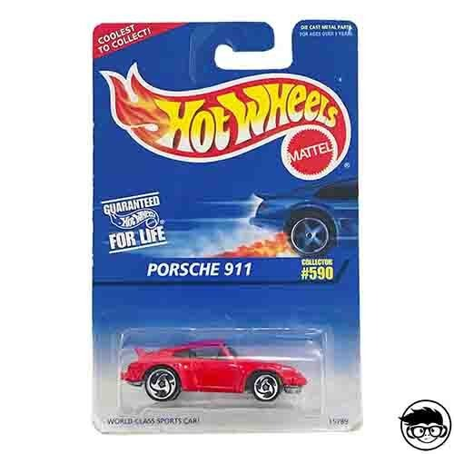 Hot Wheels Porsche 911 Collector 590 1996 long card