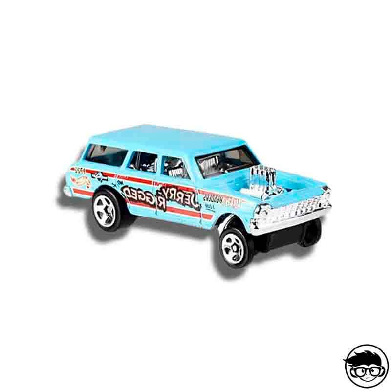2019 Hot Wheels /'64 Chevy Nova Wagon Gasser 1:64 1//64 HW Race Day 4//10 Blue