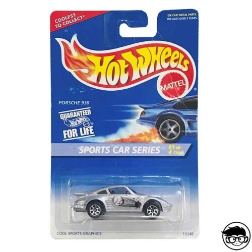 Hot Wheels Porsche 930 Sports Car Series Collector 404 1995 long card
