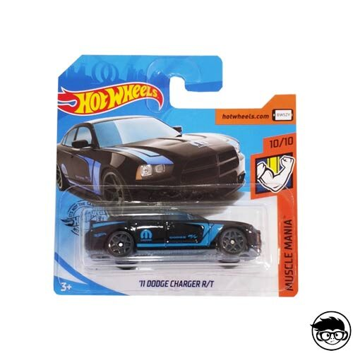 Hot Wheels '11 Dodge Charger R/T Muscle Mania 158/250 2019 short card