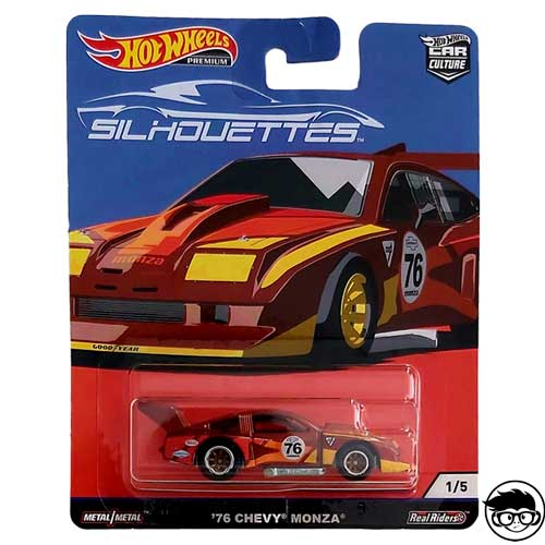 HOTWHEELS 2019 CAR CULTURE SILHOUETTES 76 GREENWOOD CORVETTE RUBBER TYRES