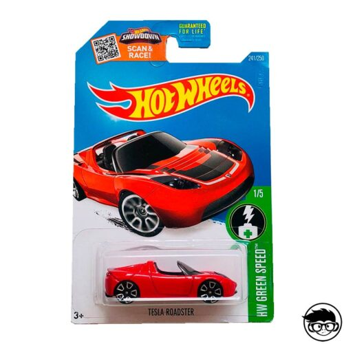 Hot Wheels Tesla Roadster HW Green Speed 241/250 2016 long card