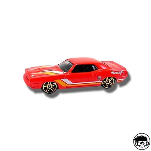 Hot Wheels '70 Plymouth AAR Cuda Muscle Mania 125/250 2016 short card Loose