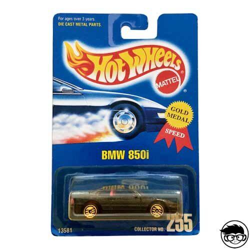 Hot Wheels BMW 850i Collector Nº 255 Gold Medal 192 long card