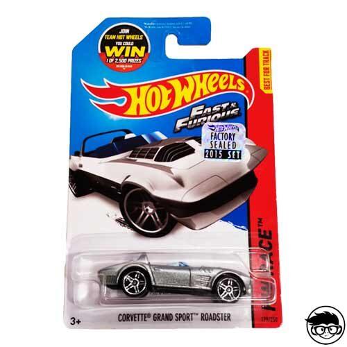 Hot Wheels Fast & Furious Corvette Grand Sport Roadster HW Race 179/250 2015 long card Factory Sealed